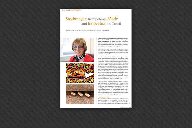 News   SHOEZ stellt STOCKMAYER vor   STOCKMAYER - innovative textiles and more