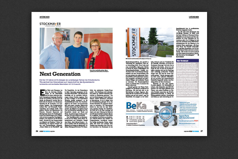 News   Die nächste Generation   STOCKMAYER - innovative textiles and more
